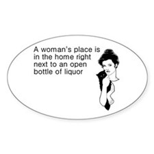 Woman's Place Liquor Decal