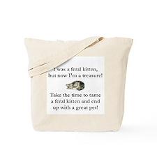 feral kitten tee Tote Bag