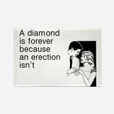 Diamond Is Forever Rectangle Magnet
