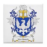 Van Beeck Coat of Arms Tile Coaster
