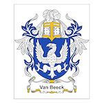 Van Beeck Coat of Arms Small Poster