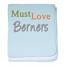 MUST LOVE Berners baby blanket
