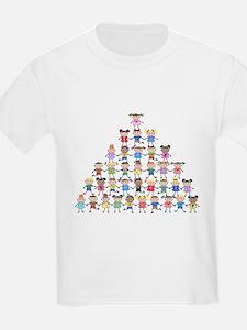 Multicultural Kids Pyramid Light T-Shirt