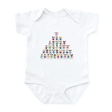 Multicultural Kids Pyramid Infant Bodysuit