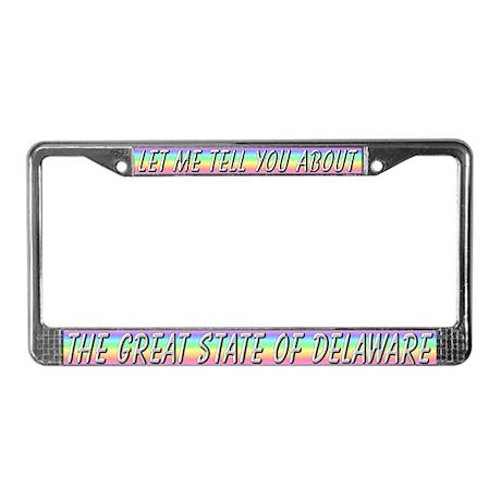 """""""Delaware"""" License Plate Frame"""