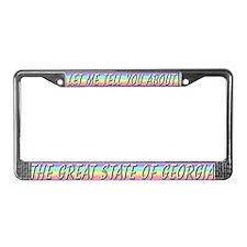 """Georgia"" License Plate Frame"
