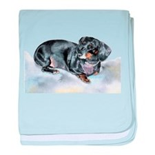Annie the Dachshund baby blanket