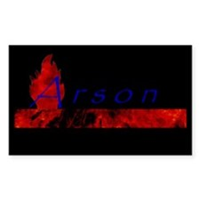Arson Rectangle Decal