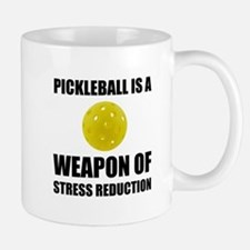 Weapon Of Stress Reduction Pickleball Mugs
