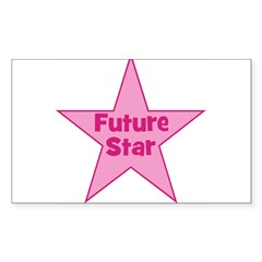 Future Star - Pink Rectangle Decal