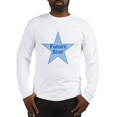 Future Star - Blue Long Sleeve T-Shirt