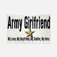 Army Girlfriend - My Hero Rectangle Magnet