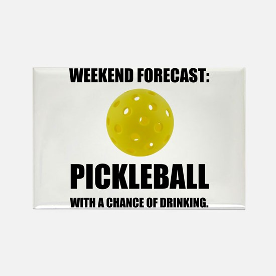 Weekend Forecast Pickleball Drinking Magnets