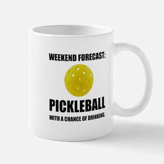 Weekend Forecast Pickleball Drinking Mugs