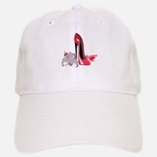 Red Stiletto Shoes and Lilies Baseball Baseball Cap