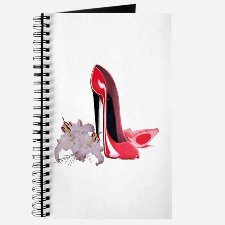 Red Stiletto Shoes and Lilies Journal