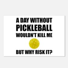 Why Risk It Pickleball Postcards (Package of 8)