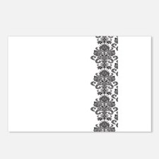BW Damask Invite.png Postcards (Package of 8)