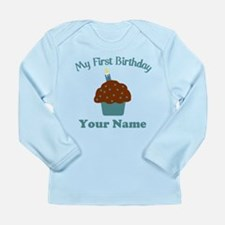 1stbdayboycup Long Sleeve Infant T-Shirt