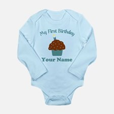 1stbdayboycup Long Sleeve Infant Bodysuit