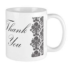 BW Thank You Card.png Small Mug