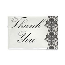 BW Thank You Card.png Rectangle Magnet