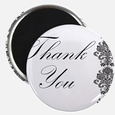 """BW Thank You Card.png 2.25"""" Magnet (10 pack)"""