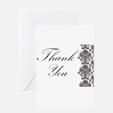 BW Thank You Card.png Greeting Card