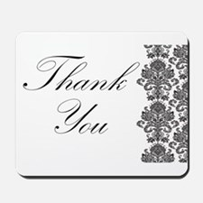 BW Thank You Card.png Mousepad
