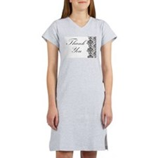 BW Thank You Card.png Women's Nightshirt