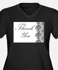 BW Thank You Card.png Women's Plus Size V-Neck Dar