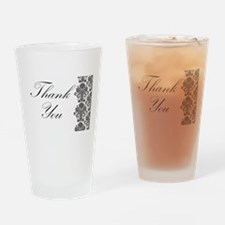 BW Thank You Card.png Drinking Glass