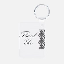 BW Thank You Card.png Keychains