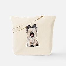 Sitting Briard Tote Bag
