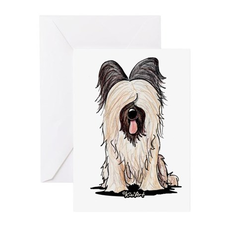 Sitting Briard Greeting Cards (Pk of 10)