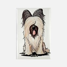 Sitting Briard Rectangle Magnet