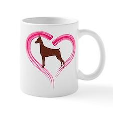 Heart My Red Doberman Mug