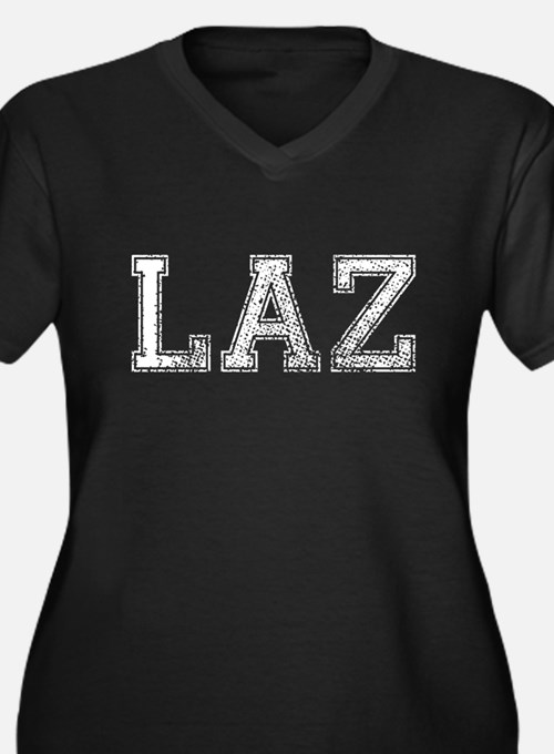 LAZ, Vintage, Women's Plus Size V-Neck Dark T-Shir