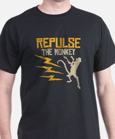 Repulse The Monkey Black T-Shirt