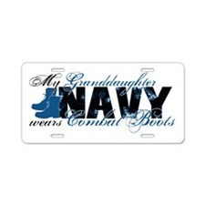Granddaughter Combat Boots - NAVY Aluminum License