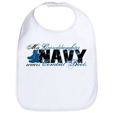 Granddaughter Combat Boots - NAVY Bib