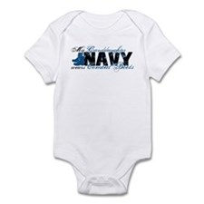 Granddaughter Combat Boots - NAVY Infant Bodysuit
