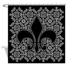 Fleur de Lis w/Ornamental bckgrnd Shower Curtain