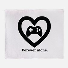 Forever Alone Gamer. Throw Blanket