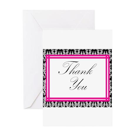 damask thank you Greeting Card