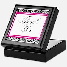 damask thank you Keepsake Box