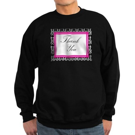 damask thank you Sweatshirt (dark)