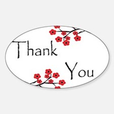 Red Cherry Blossoms Thank You.jpg Decal