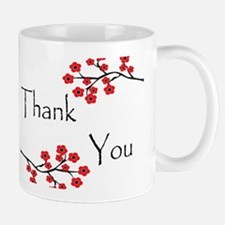 Red Cherry Blossoms Thank You.jpg Mug