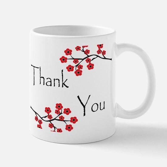 Red Cherry Blossoms Thank You.jpg Mug